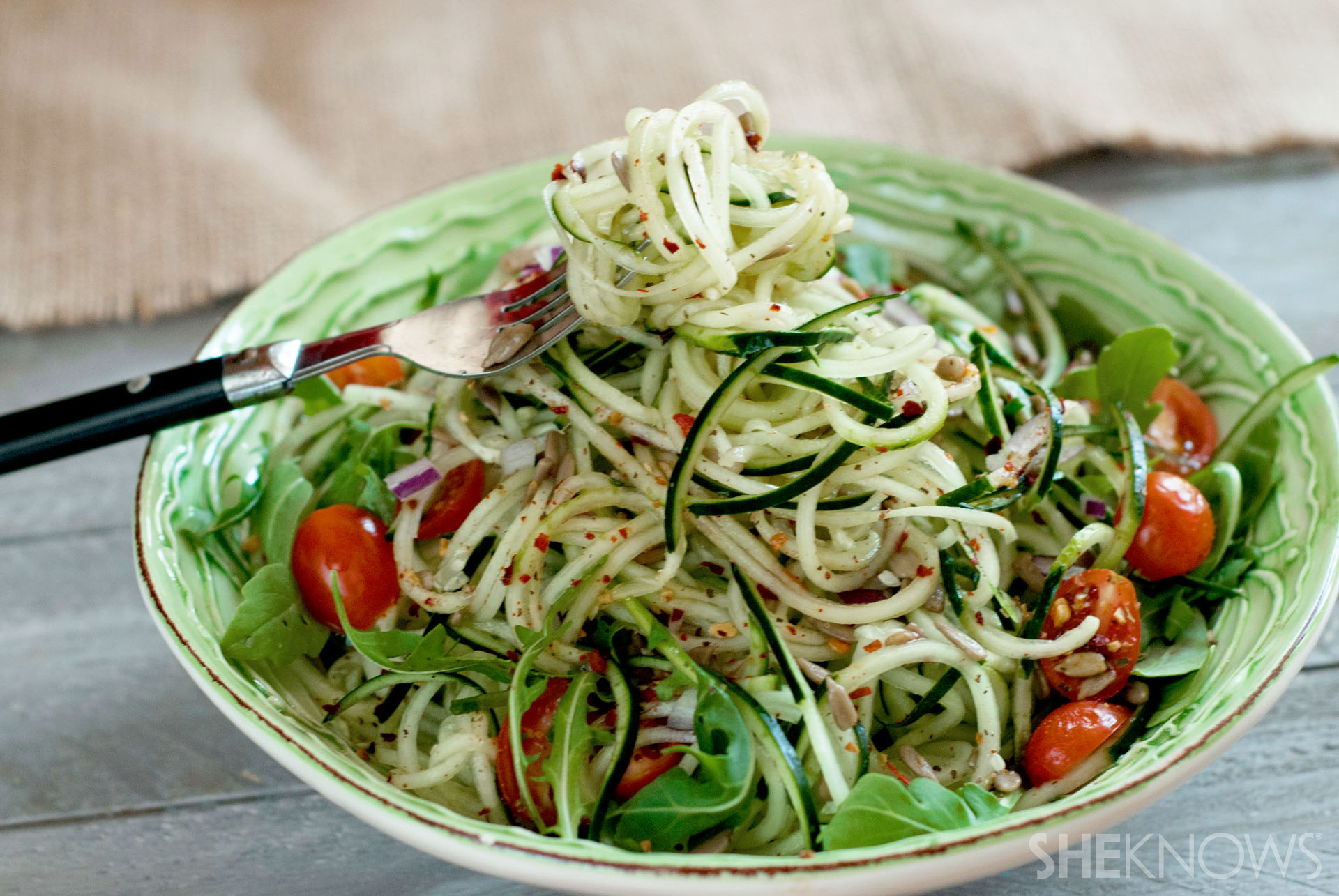 Sweet and spicy cucumber noodles recipe
