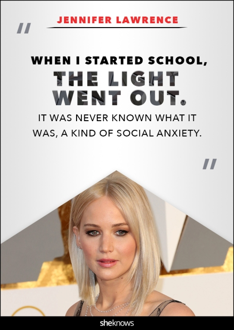 Jennifer Lawrence anxiety quote