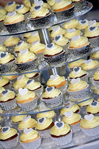 assortment of yellow cupcakes