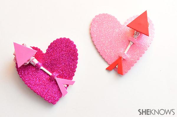 Cupid's arrow lollipop valentine | Sheknows.com