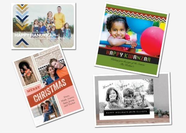 Customized photo holiday cards