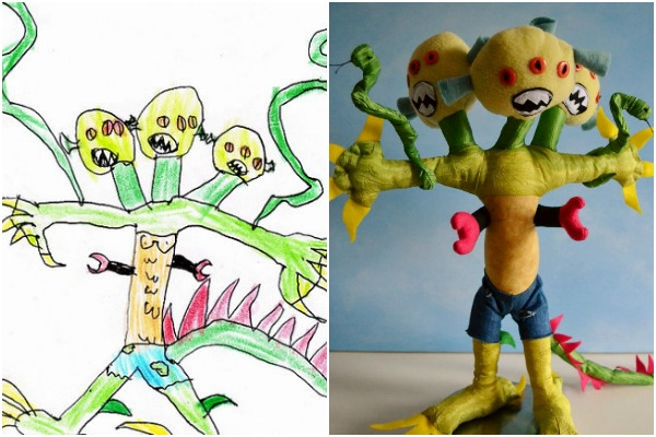 Parents doing amazing things with their children's drawings