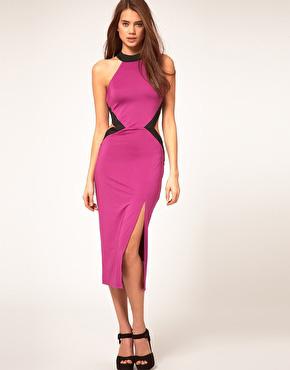 Cut out pink dress