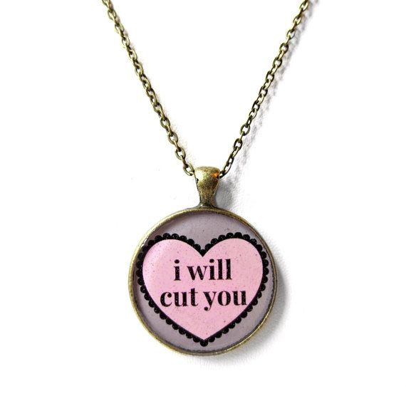 i will cut you necklace