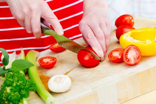 Cutting produce - Kitchen knife