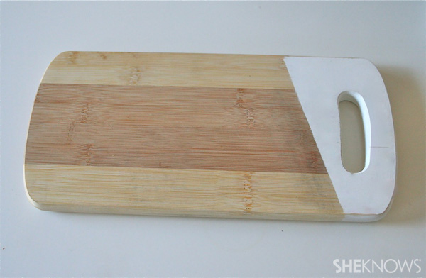 DIY painted cutting board Step 4: Finished