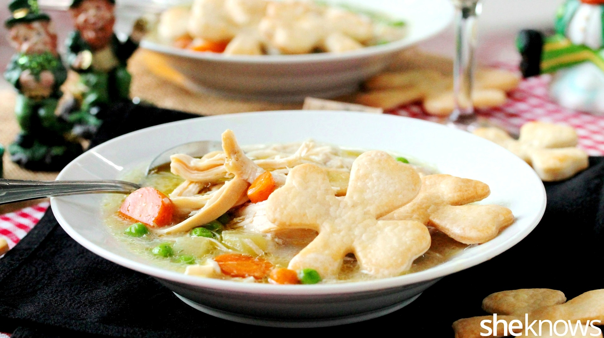 Slow Cooker Sunday Chicken Potpie Soup With A St Patricks Day