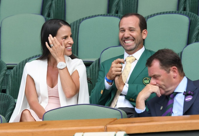 Check out these celebrities at the 2017 Wimbledon tournament: Sergio Garcia & Angela Akins