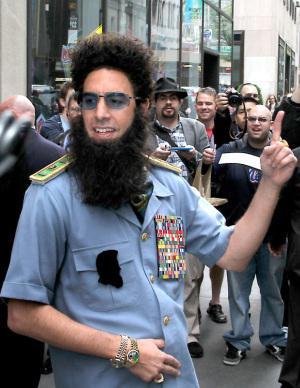 Sacha Baron Cohen breaks Dictator shtick
