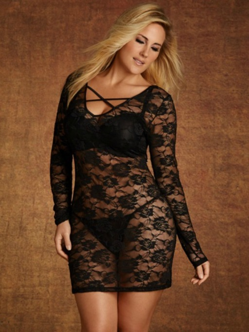 Affordable Plus Size Lingerie: Lace Dress