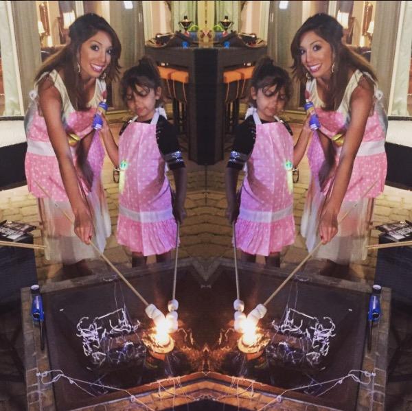 Teen Mom's Farrah Abraham and daughter Sophia glamping