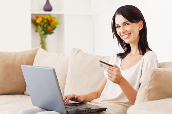 Woman shopping for Cyber Monday fashion deals