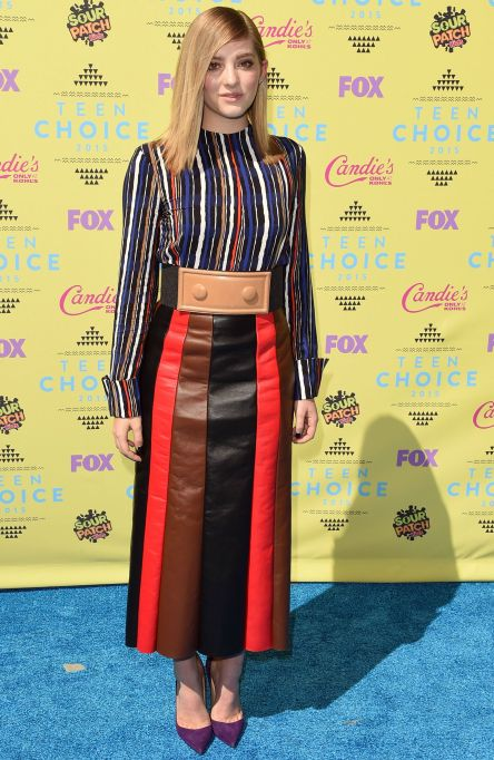 Willow Shields striped outfit