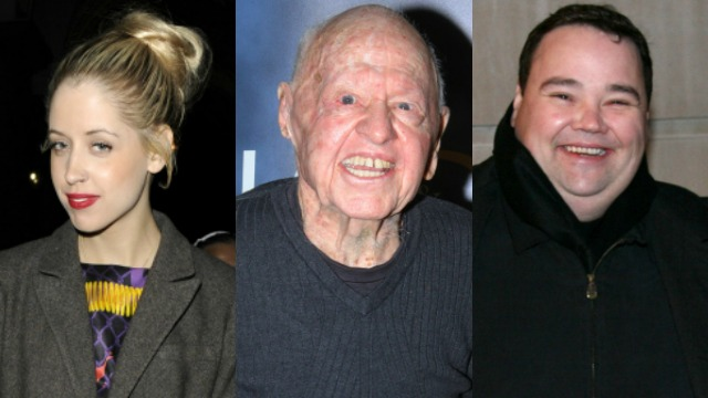 Peaches Geldof, Mickey Rooney, John Pinette