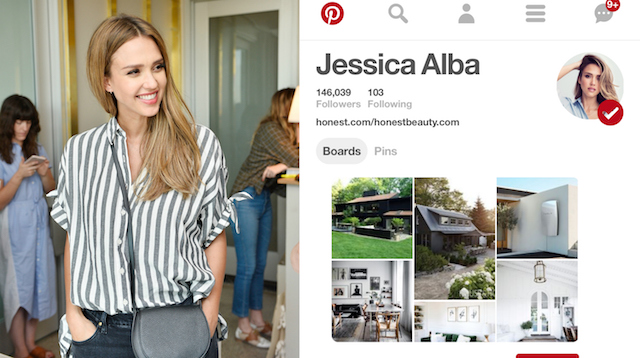 Celebs on Pinterest: Jessica Alba