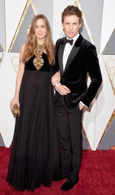 Eddie Redmayne & Hannah Redmayne Oscars 2016