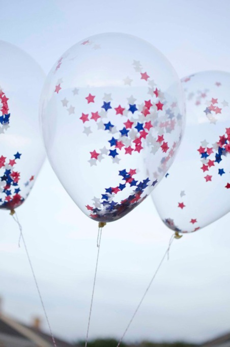 Latex balloon clear with small star confetti