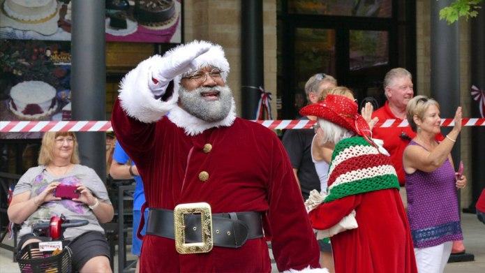 First black Santa makes appearance at