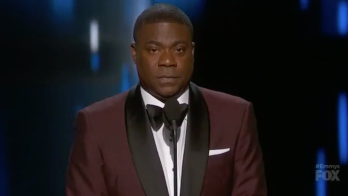 Tracy Morgan receives a standing ovation