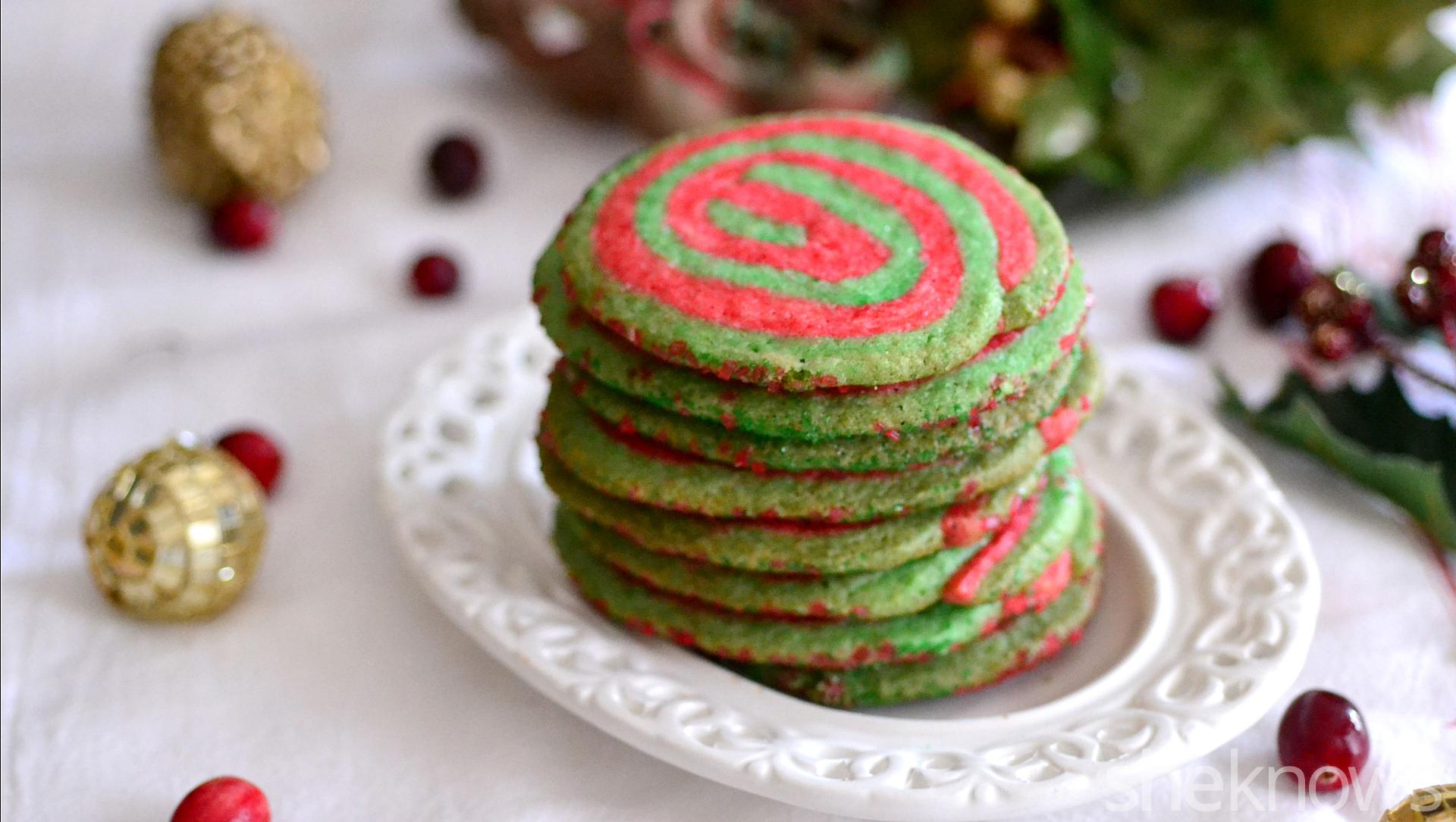 Christmas Pinwheel Cookies Celebrate The Season With Red And Green