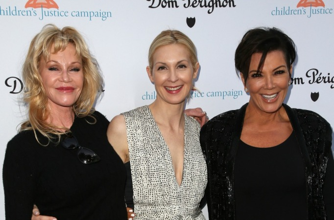 Melanie Griffith, Kelly Rutherford and Kris Jenner