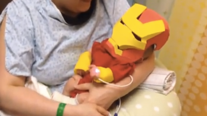 Dad turns his ailing baby into