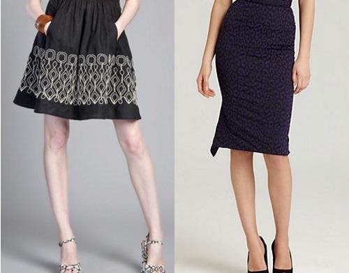 Best fall skirt trends for apple-shaped