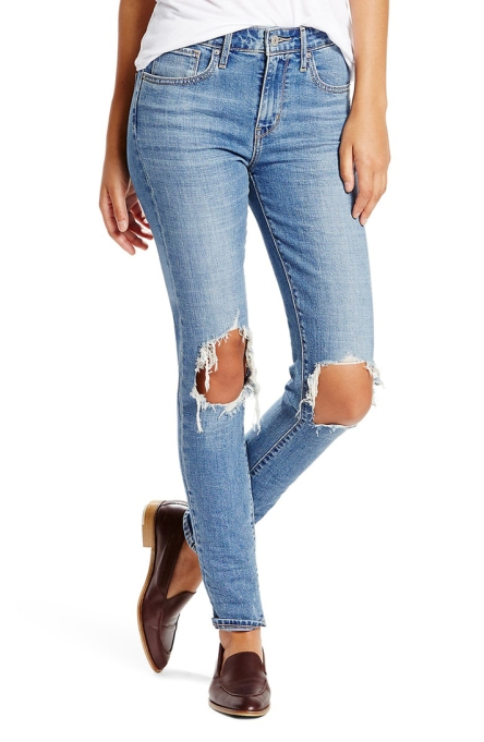 Levi's 721 Ripped High-Waist Skinny Jeans