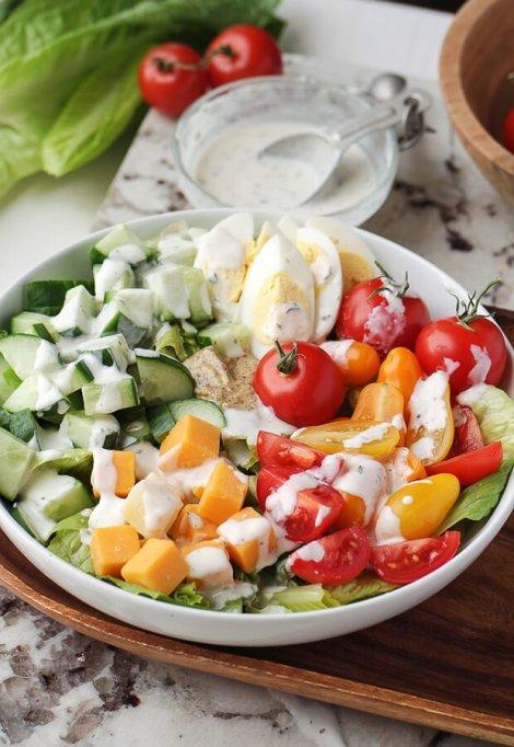 Vegetarian Keto Club Salad