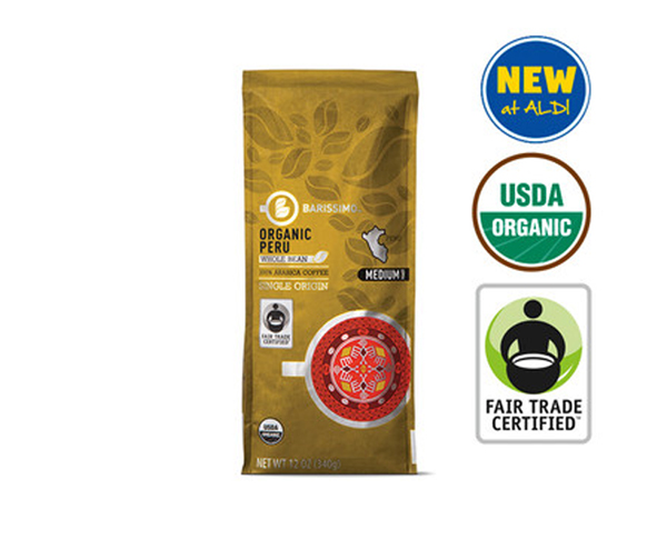 Barissimo Organic fair-trade coffee at Aldi