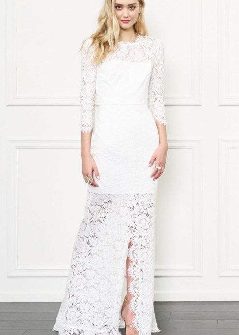 Best Boho Wedding Dresses To Match Your Style: Rachel Zoe Carolyn Open Back Lace Gown | Summer Wedding Trends 2017