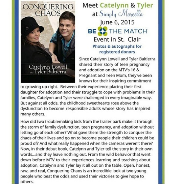 Catelynn and Tyler's book