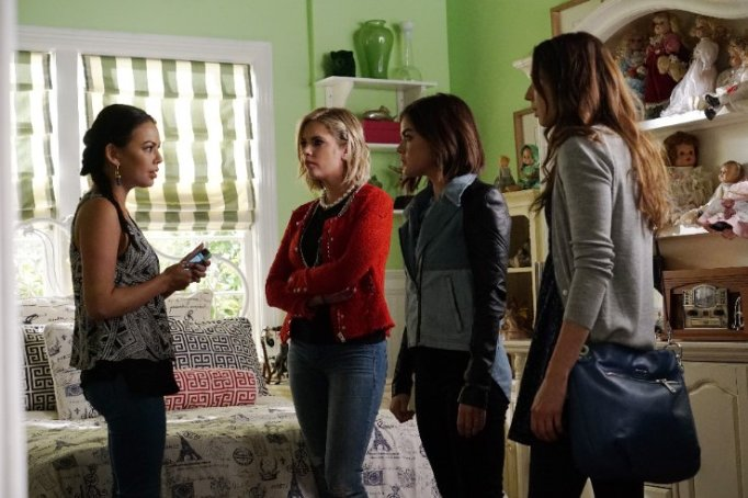 Troian Bellisario, Janel Parrish, Lucy Hale and Ashley Benson in Pretty Little Liars