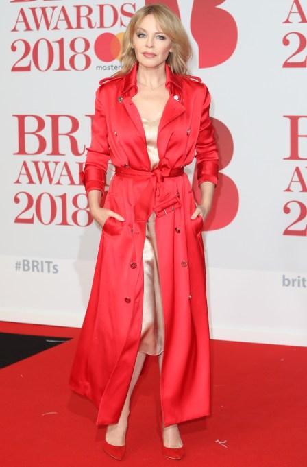 Kylie Minogue BRIT Awards 2018