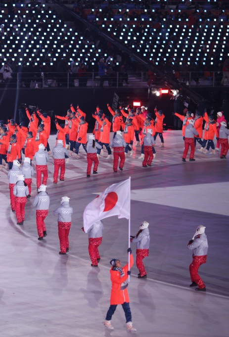 Dancers at Olympic Opening Ceremony 2018