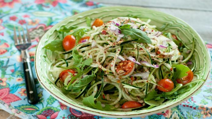Sweet-and-spicy cucumber noodles will make you