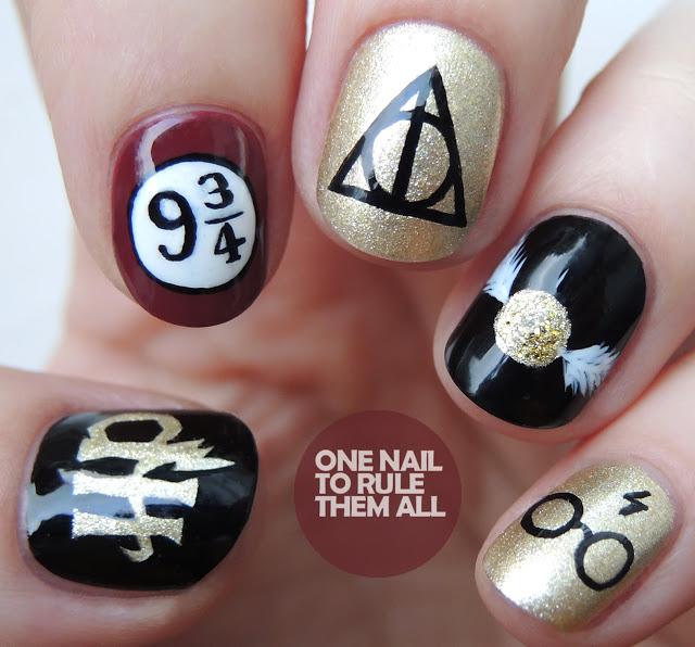 'Harry Potter' nail art