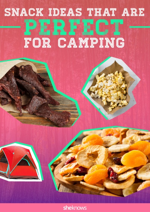 Snack ideas for camping Pinterest image