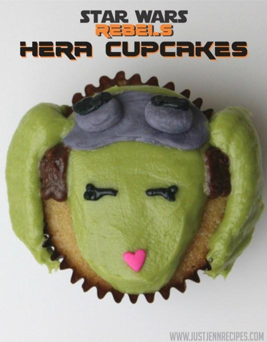 Star Wars Rebel Hera cupcakes