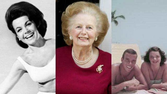 Annette Funicello, Margaret Thatcher, Lilly Pulitzer