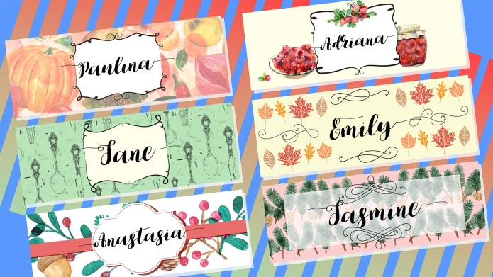 8 Printable Holiday Place Cards to