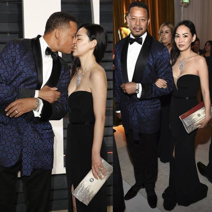 Terrence Howard and wife, Mira Pak