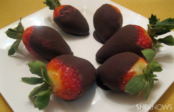 Dairy-free chocolate covered strawberries