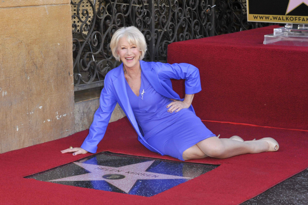 Dame Helen Mirren Receiving a Star on the Hollywood Walk of Fame