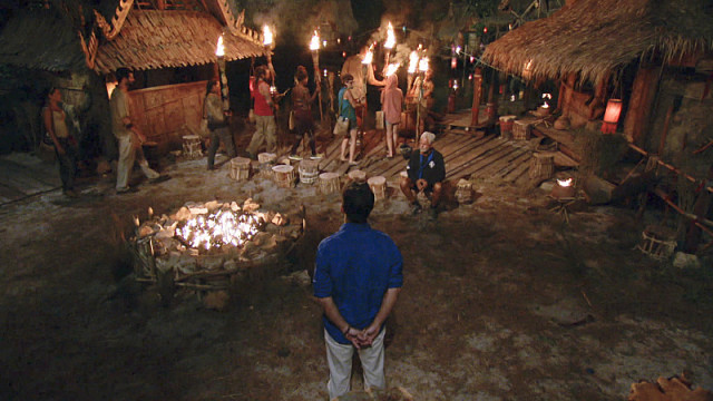 Dara merged tribe arrives at Tribal Council on Survivor: Kaoh Rong