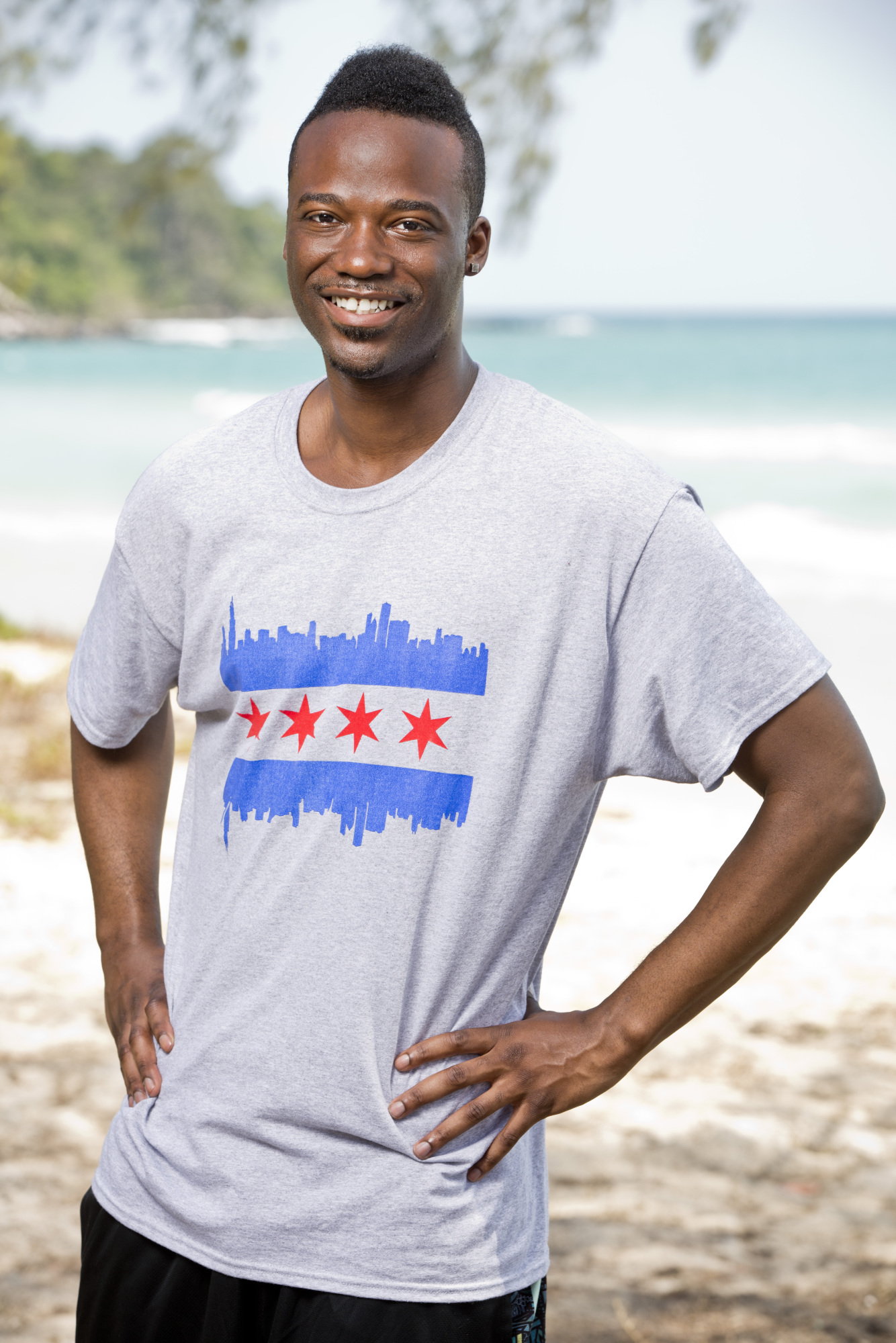 Darnell Hamilton cast photo for Survivor: Kaoh Rong