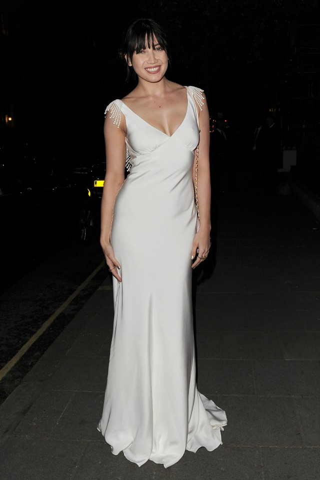 Daisy Lowe at Jo Malone Ball in bridal evening dress