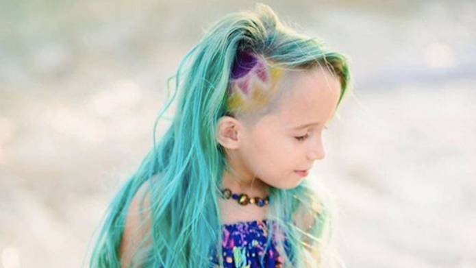 This 6-year-old's unicorn hair is stirring