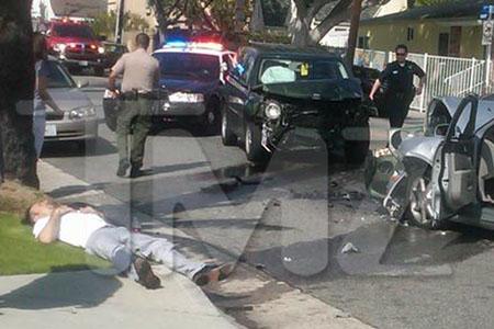 David Arquette involved in car accident