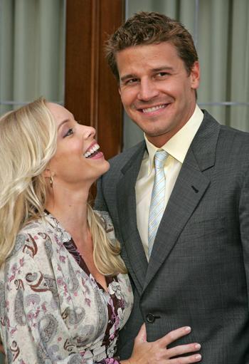 David Boreanaz and wife Jamie
